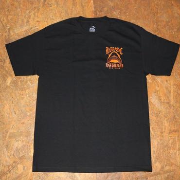 HAVOC HAWAII CLOTHING     Shark T-shirts ブラック/オレンジ