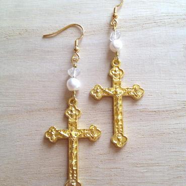 small cross pearl▼▲4color▲▼