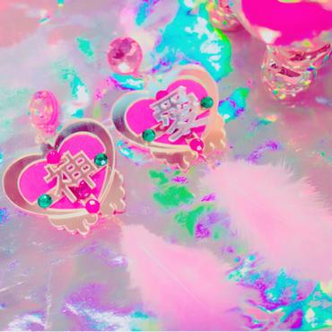 神・愛pierces&clip earings