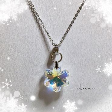 SWAROVSKI❄雪の結晶ネックレス