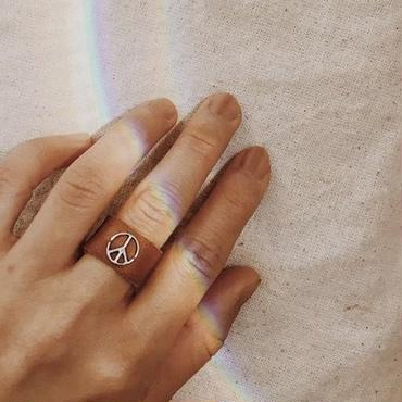 peace symbols ring