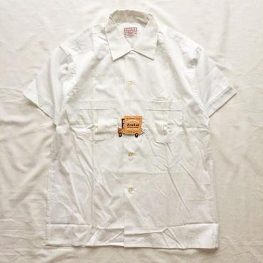 NOS Vintage 1950's~1960's USA製 ホワイト 半袖シャツ / 古着 ビンテージ デッドストック