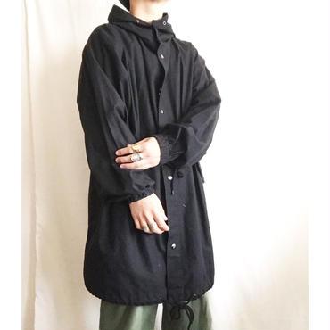 ユニセックス 90s~ ブラック コットン モッズパーカー/古着 ビンテージ