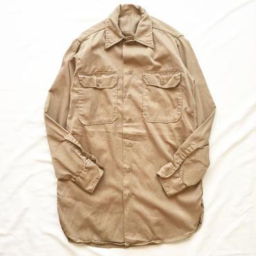 Vintage 1950's~60's マチ付き コットン ワークシャツ / 古着 ビンテージ