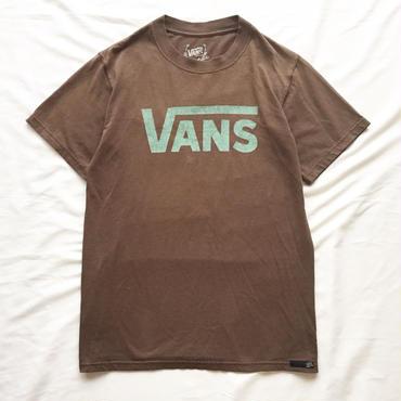 チョコレートブラウン VANS バンズ  ロゴプリント 半袖Tシャツ / 古着 ビンテージ