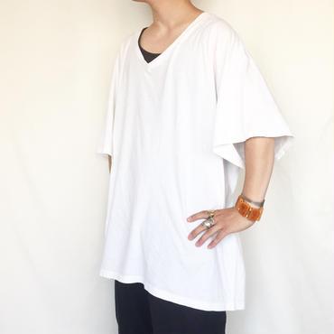 ビックサイズ XXXL Vネック ホワイト 半袖Tシャツ / 古着 ビンテージ