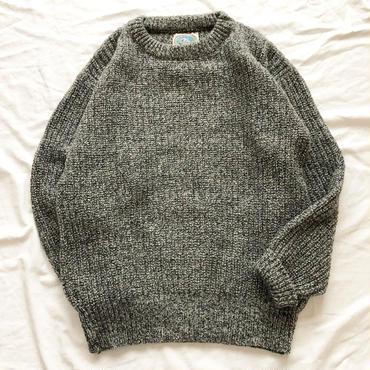 1980's~ USA製 グレー ウールセーター / 古着 ビンテージ