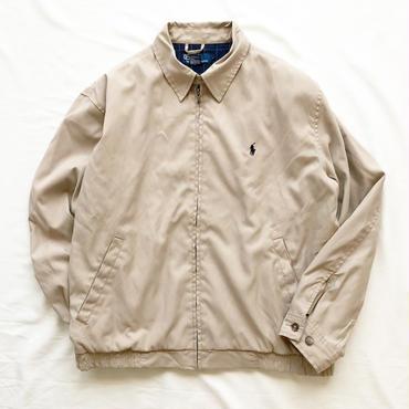 Polo Ralph Lauren ポロラルフローレン ベージュ ドリズラージャケット / 古着 ビンテージ スウィングトップ