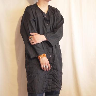 USA製 ナイロン ノーカラー コート/古着 ビンテージ