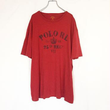 Polo Ralph Lauren ポロラルフローレン ステンシル風 4段プリント 半袖Tシャツ / 古着 ビンテージ