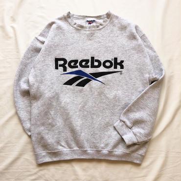1990's~ USA製 Reebok リーボック 前V ロゴプリント スウェット / 古着 ビンテージ