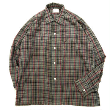 Vintage 1960's~ ボックスシルエット チェック柄 長袖シャツ / 古着 ビンテージ
