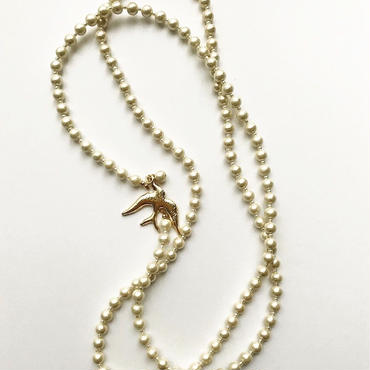 Swallow long necklace