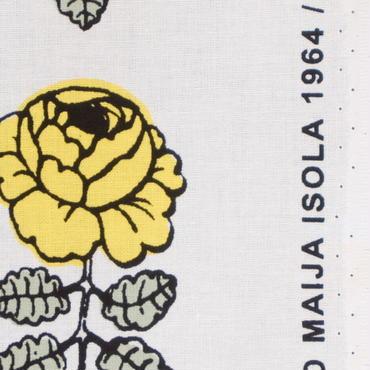 マリメッコ marimekko <Vihkiruusu>ファブリック(イエロー)50cm