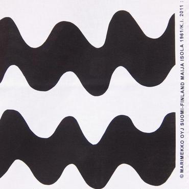 マリメッコ marimekko <Pikku Lokki>ファブリック(ホワイト×ブラック)50cm