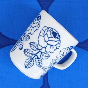 マリメッコ marimekko <Vihkiruusu>マグカップ(ブルーライン)日本限定