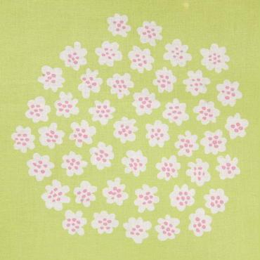 マリメッコ marimekko <Puketti>ファブリック(ライム×ピンク)50cm