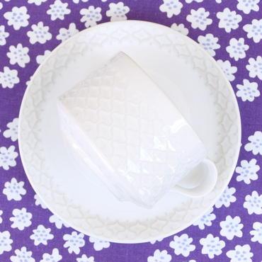 ビング・オー・グレンダール Bing&Grondahl コーディアル・パレット カップ&ソーサー(ホワイト)