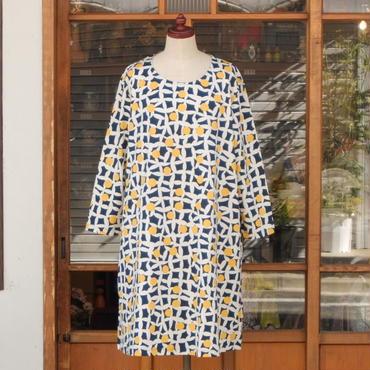 マリメッコ marimekko <Pielikki>七分袖ワンピース 大きなサイズ
