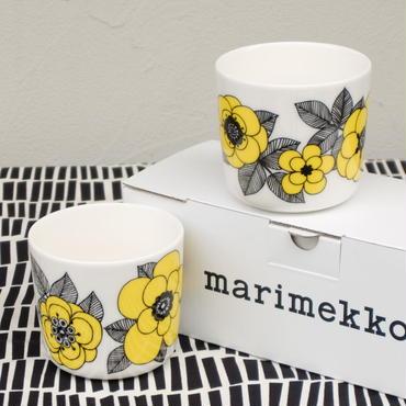 マリメッコ marimekko <Kestit>コーヒーカップ2個セット(イエロー)