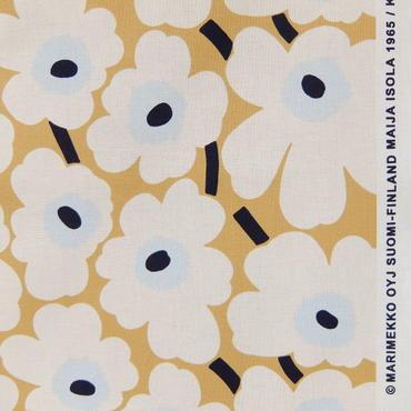 マリメッコ marimekko <Mini Unikko>ファブリック(ベージュ×オフホワイト)50cm
