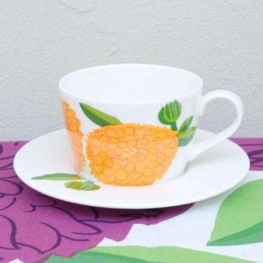 イッタラ Iittala × マリメッコ marimekko <Primavera>カップ&ソーサー(オレンジ)