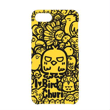iPhoneケース(黒×黄)