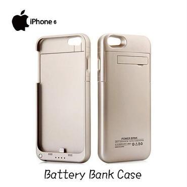 iPhone 6 4.7インチ専用 バッテリー内蔵ケース ゴールド