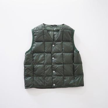 V NECK BTN DOWN VEST GREEN (TAION) 100~140cm