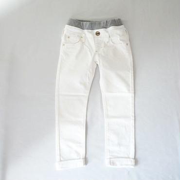 リブストレッチテーパードパンツ WHITE (Lee) 130~150cm
