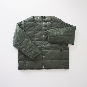 CREW NECK BTN DOWN JKT GREEN (TAION) 100~140cm