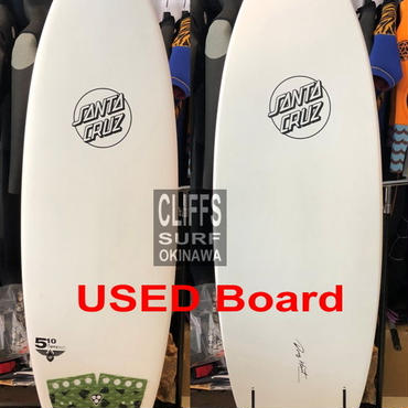 "SANTACRUZ 5'10"" PUMPKIN USED"