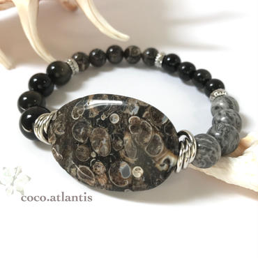 Men's*化石の記憶〜fossil agate*