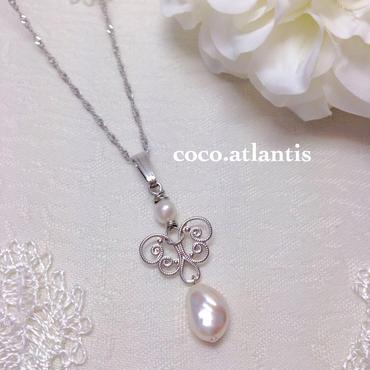 *天使のペンダント〜pearl  beauty**