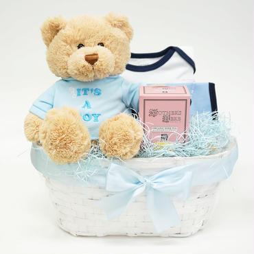 出産祝い/ママにやさしいハーブティーとカーターズセット・リボンラッピング付き(男の子用)