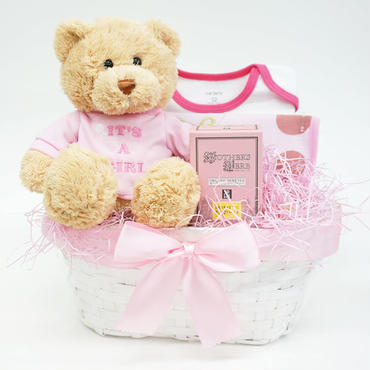 出産祝い/ママにやさしいハーブティーとカーターズセット・リボンラッピング付き(女の子用)