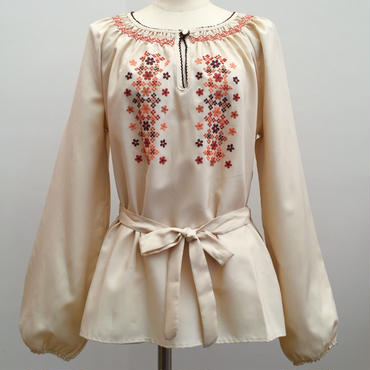 花刺繍長袖トップス(1970s UK)