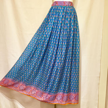 シルクMAXIスカート(1970s France デッドストック)
