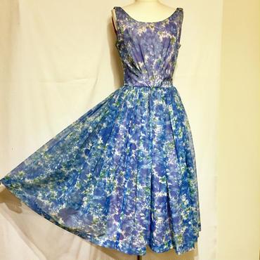 ブルーフラワー・ドレス(1950s U.S.A)(装苑1月号P45掲載)