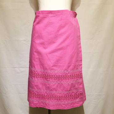 ピンク・ラップスカート(1970s France デッドストック)