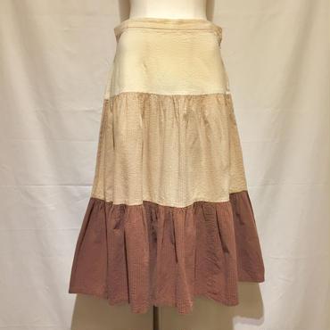 グラデーション・ティアードスカート(1970s France)