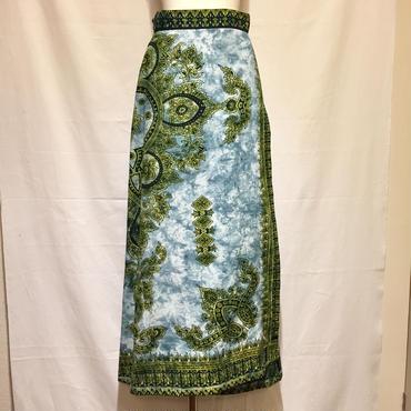 エスニックMAXIラップスカート(1970s U.K デッドストック)