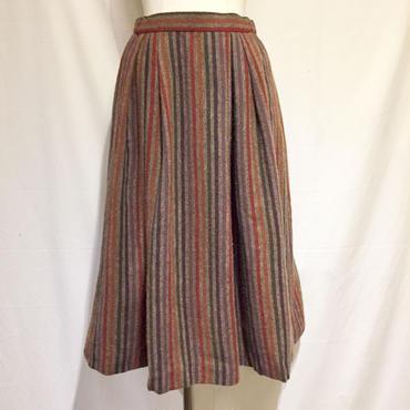 WOOL&アンゴラ・ストライプスカート(1970s Italy デッドストック)