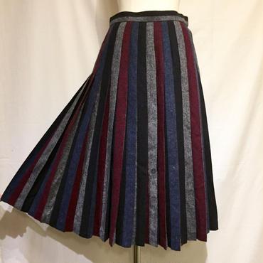 4色アコーディオンプリーツ・スカート(1970s France デッドストック)