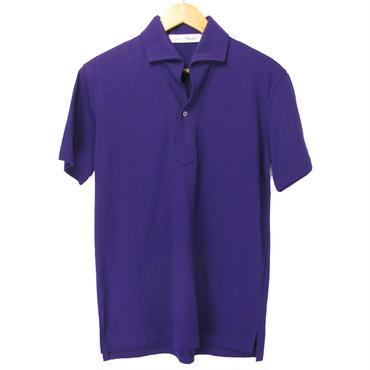 ワイドカラー ポロシャツ M 紫 海外セレクト
