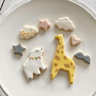 可愛い缶に入った動物アイシングクッキー!