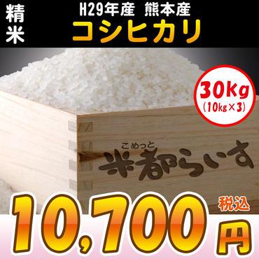 【精米】H29年度産熊本コシヒカリ 30kg