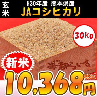 【玄米】H30年産 熊本産 JAコシヒカリ 30kg