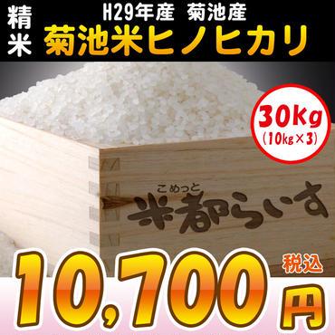【精米】H29年度産 菊池米 ヒノヒカリ 30kg