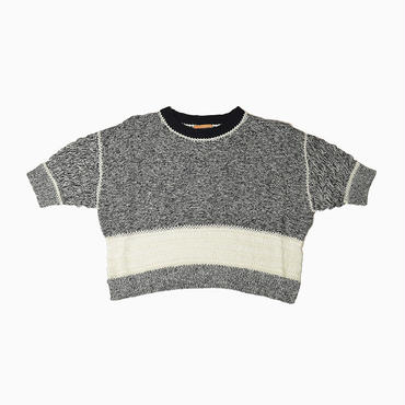 Mixed yarn hand knit * Black